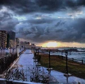 THIS ALEXANDRIA EGYPT WINTER RAIN