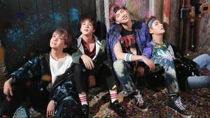 Tae, Hobi, Jin and RM