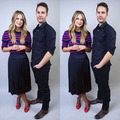 Taylor Kitsch and Melissa Benoist doing press today for Waco in LA. - taylor-kitsch photo