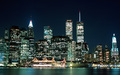 The Manhattan Skyline At Night - beautiful-things wallpaper
