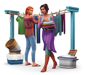 The Sims 4: Laundry día Stuff Renders