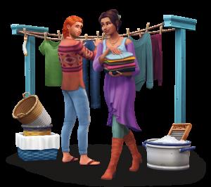 Sims 4 karatasi la kupamba ukuta entitled The Sims 4: Laundry siku Stuff Renders