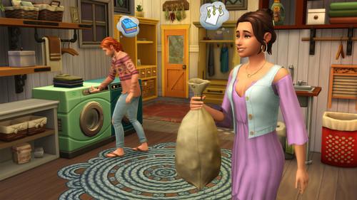 Sims 4 karatasi la kupamba ukuta called The Sims 4: Laundry siku Stuff