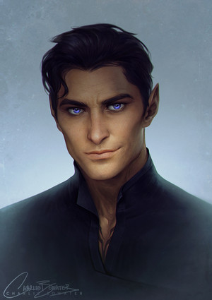The very handsome Rhysand by Charlie Bowater