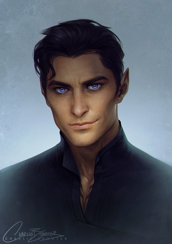 A court of thorns and roses series wallpaper called The very handsome Rhysand by Charlie Bowater