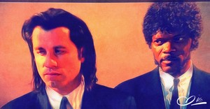 Travolta & Jackson/ Vincent & Jules/ Pulp Fiction Adam Darr