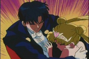 Tuxedo Mask and Neo Queen Serenity