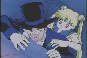 Tuxedo Mask and Sailor Moon