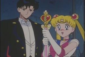 Tuxedo Mask and Sailor Moon