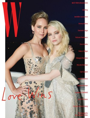 W Magazine's Best Performances of the год Issue - Jennifer Lawrence and Emma Stone Cover