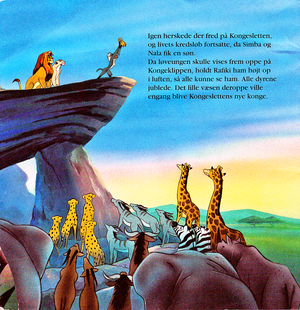 Walt डिज़्नी Book Scans – The Lion King (Danish Version)