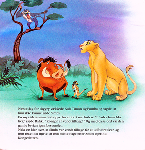 Walt ডিজনি Book Scans – The Lion King (Danish Version)
