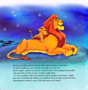Walt 迪士尼 Book Scans – The Lion King (Danish Version)