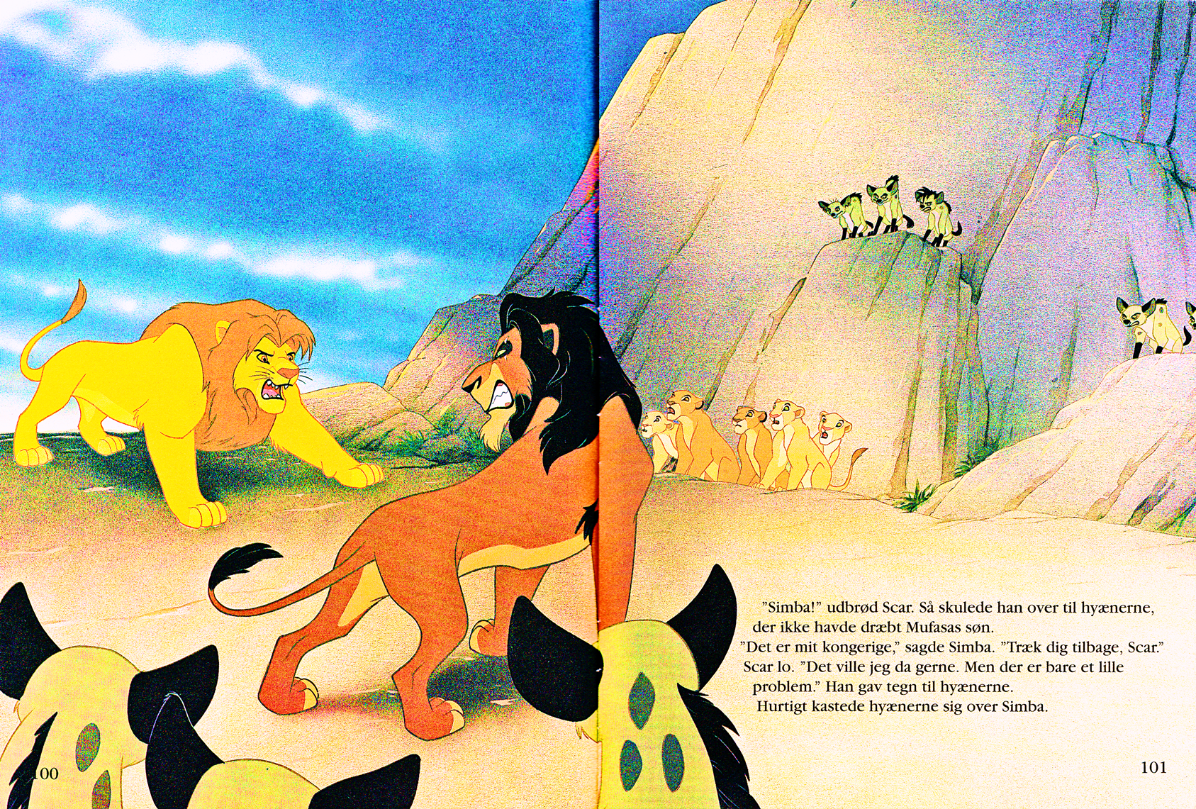 Walt 迪士尼 Book Scans – The Lion King: The Story of Simba (Danish Version)