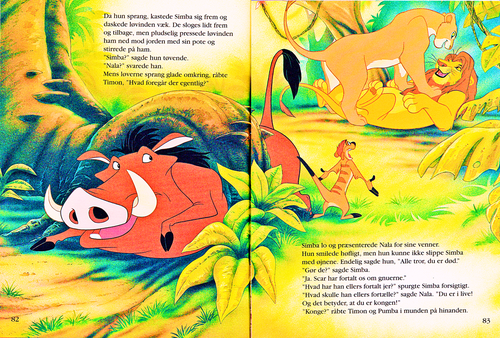 the lion king story book pdf