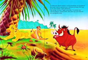 Walt 디즈니 Book Scans – The Lion King: The Story of Simba (Danish Version)