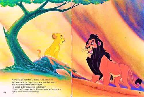 Walt Disney Characters karatasi la kupamba ukuta entitled Walt Disney Book Scans – The Lion King: The Story of Simba (Danish Version)