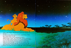 Walt Дисней Book Scans – The Lion King: The Story of Simba (Danish Version)