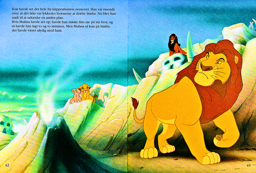Karakter Walt Disney kertas dinding entitled Walt Disney Book Scans – The Lion King: The Story of Simba (Danish Version)