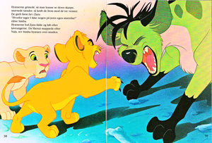 Walt ディズニー Book Scans – The Lion King: The Story of Simba (Danish Version)