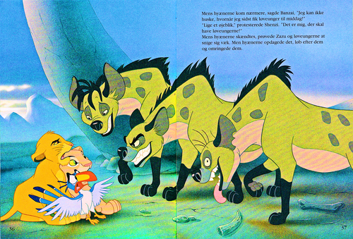 Walt Disney Characters karatasi la kupamba ukuta entitled Walt Disney Book Scans – The Lion King: The Story of Simba (Danish Version)