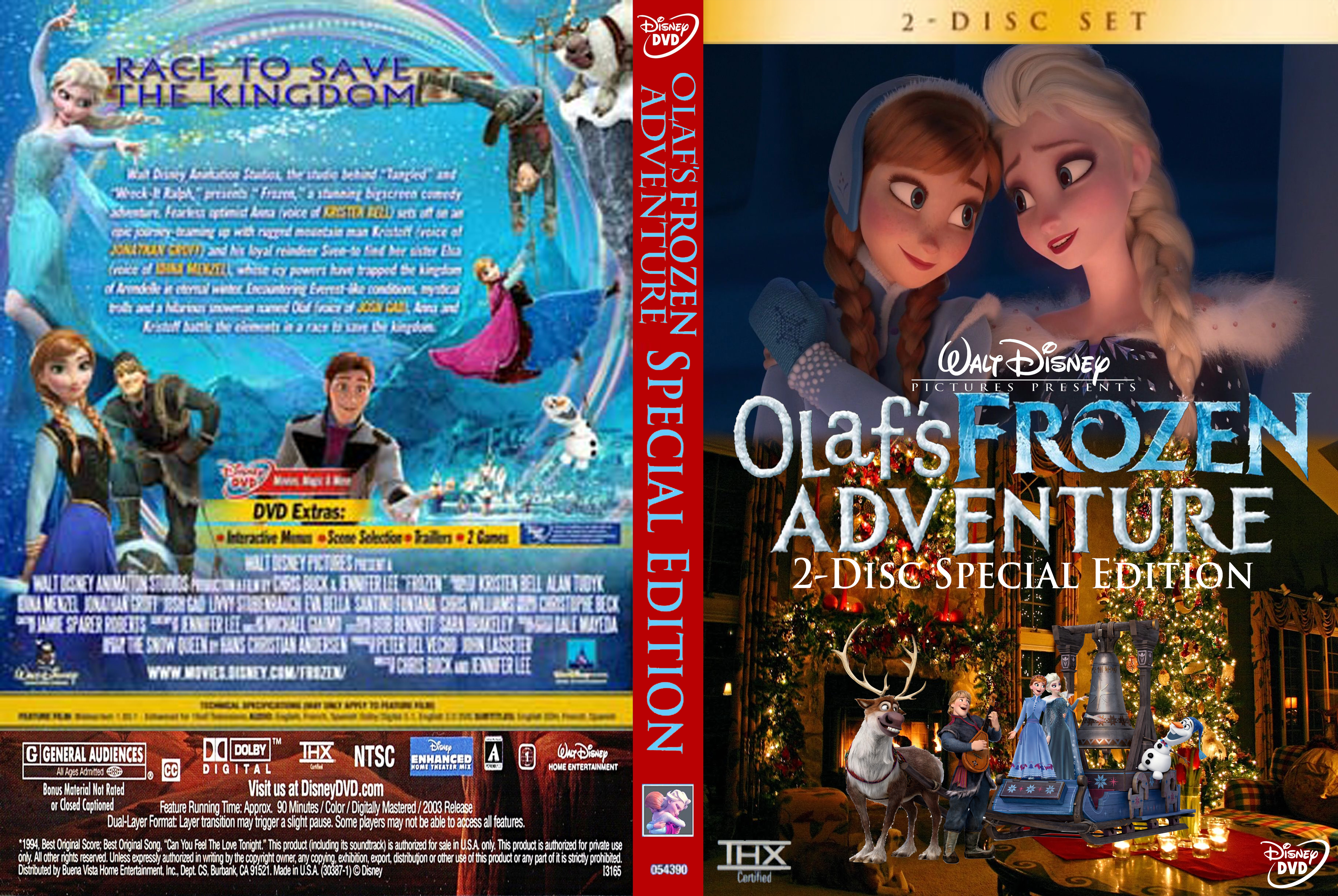 Walt Disney's Olaf's Frozen Adventure 2-Disc Special Edition (2004) DVD