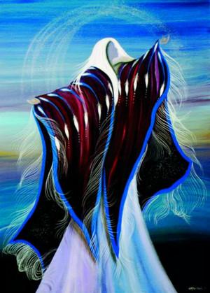 Wind Whispers によって Betty Albert (Cree)
