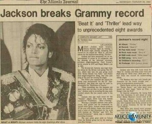 World's Biggest Superstar MJ Breaks Grammy Record