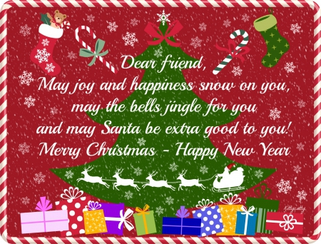 merry christmas dear friend quotes