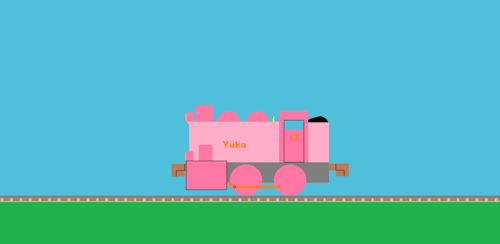 Thomas the Tank Engine achtergrond called Yuka sideview