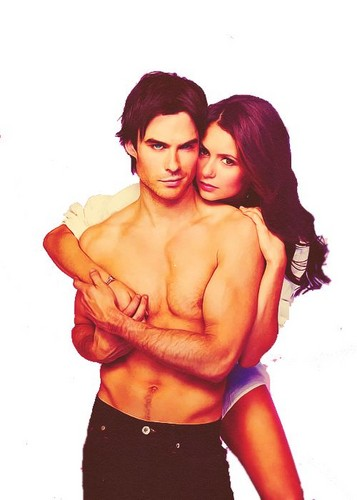 the vampire diaries wallpaper called ian and nina