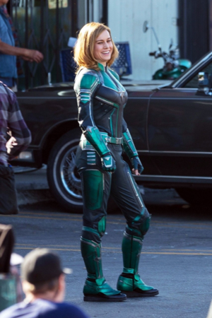 first image of Brie Larson as Captain Marvel