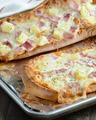 hawaiian style french bread pizza - pizza photo