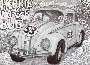 iconic herbie the 爱情 bug