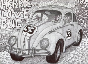 iconic herbie the 爱情 bug