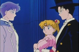 king Endymion Sailor Moon Tuxedo Mask and Rini
