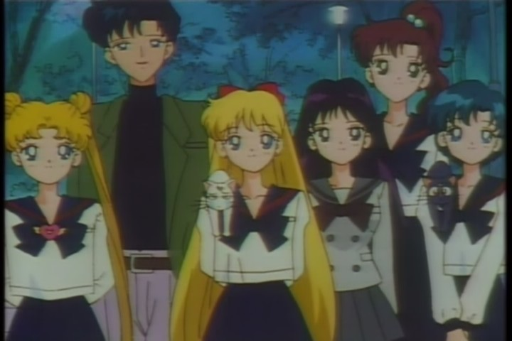 mamoru usagi minako Rei makoto and Ami