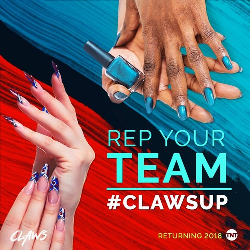 Claws (TNT) karatasi la kupamba ukuta entitled 'Claws' Season 2 Promotional Poster