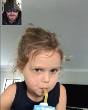 """Dad... you're not saving anybody because we're FaceTiming."""