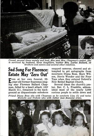 Article Pertaining To Florence Ballard's Funeral