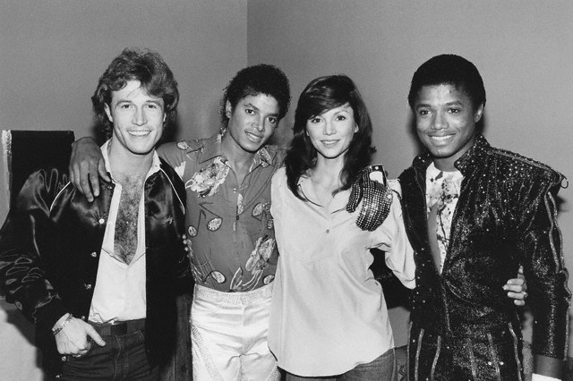 Backstage With Andy Gibb And Victoria Principal