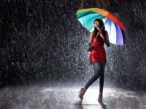 7007814 girl in rain hd پیپر وال