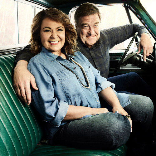 Roseanne achtergrond called AARP Photoshoot - Roseanne Barr and John Goodman