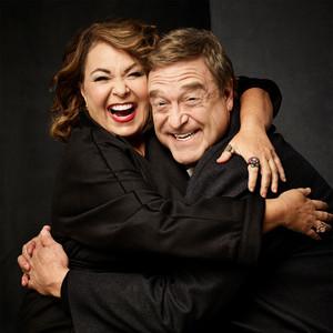 AARP Photoshoot - Roseanne Barr and John Goodman