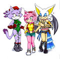 Amy, Blaze and Rouge Cosplay  - sonic-the-hedgehog photo