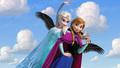 Anna & Elsa Flying 3 - frozen photo