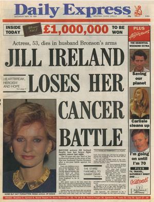 articolo Pertaining To Passing Of Jill Ireland