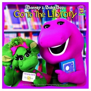 Barney and Baby Bop Go To The Library