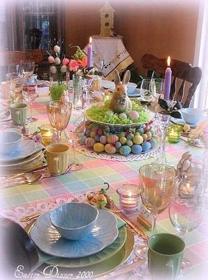 Beautiful Easter jantar mesa, tabela 🐇