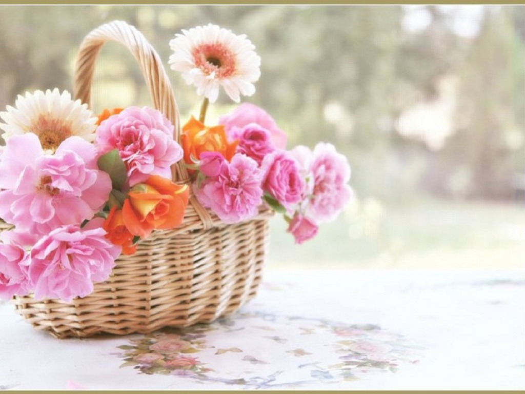 Daydreaming Images Beautiful Spring Basket Hd Wallpaper And